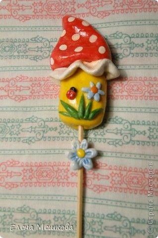 Поделка изделие Лепка Украшения для цветочков Тесто соленое фото 7