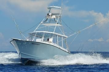 This is a typical deep sea fishing boat.