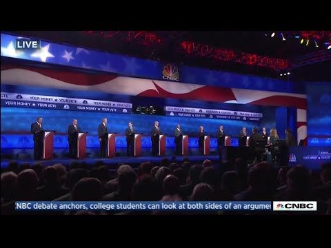 Third Republican Primary Debate - Main Stage - October 28 2015 on CNBC - YouTube