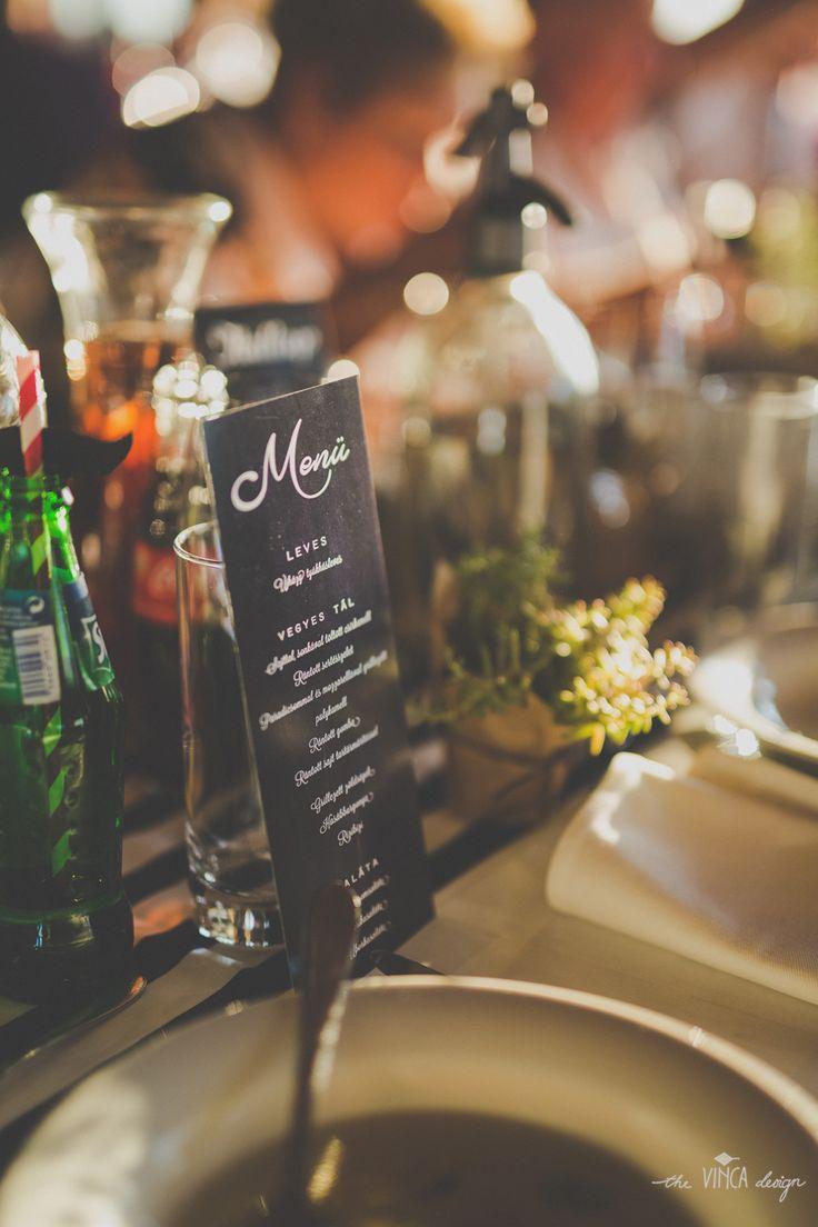 Vinca Design, France inspired wedding, wedding stationery, menu // francia esküvő, menükártya