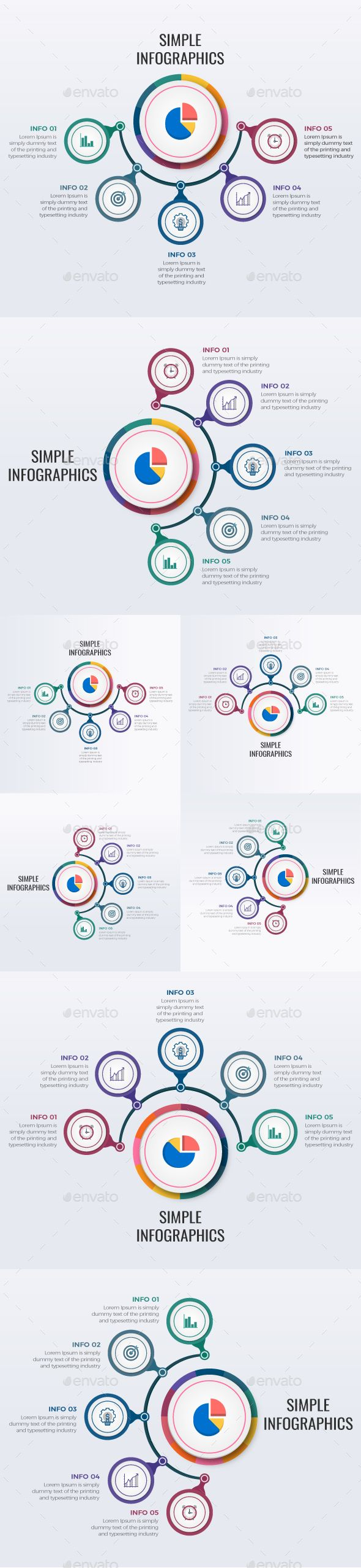 Simple Modern Circle Information - Infographics | DOWNLOAD: https://graphicriver.net/item/simple-modern-circle-information/20107627?ref=sinzo