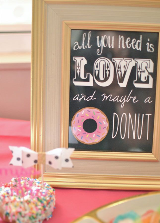 Love this idea for a donut-themed bridal shower.