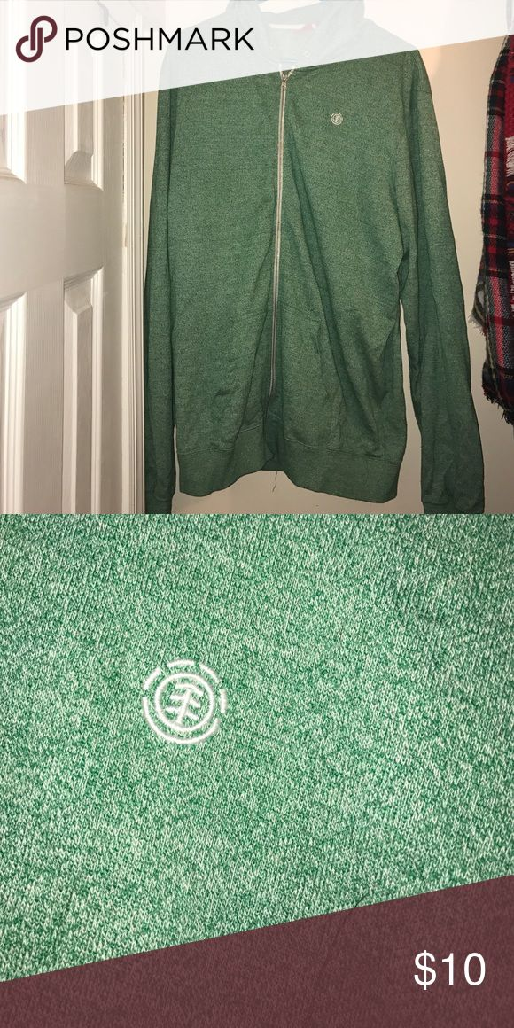Men's green zip up hoodie Men's green zip up hoodie missing strings for hood Other