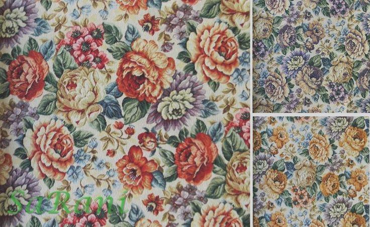 tessuto per tappezzeria Gobelin rose largh. mt. 2,80 stoffa divano letto cucina