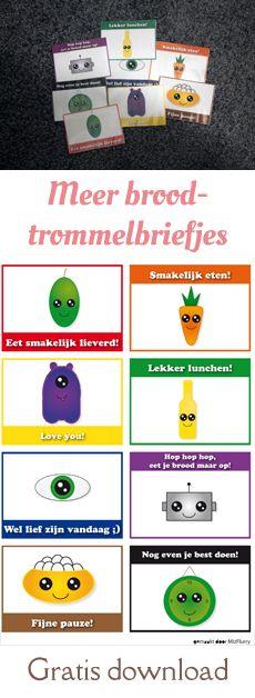 8 nieuwe ,leuke broodtrommelbriefjes voor in de lunchtrommel van je basisschoolkind. Gratis PDF-download.