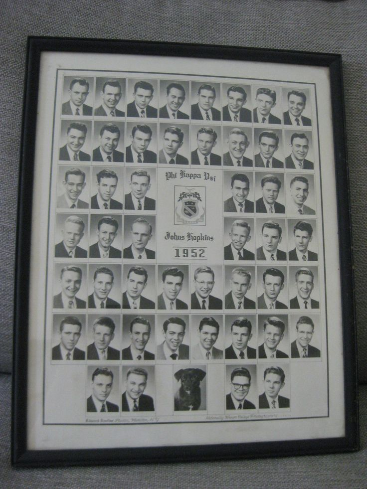 Vintage JOHN ASTIN Phi Kappa Psi Johns Hopkins Framed Photo by VintageByThePound on Etsy