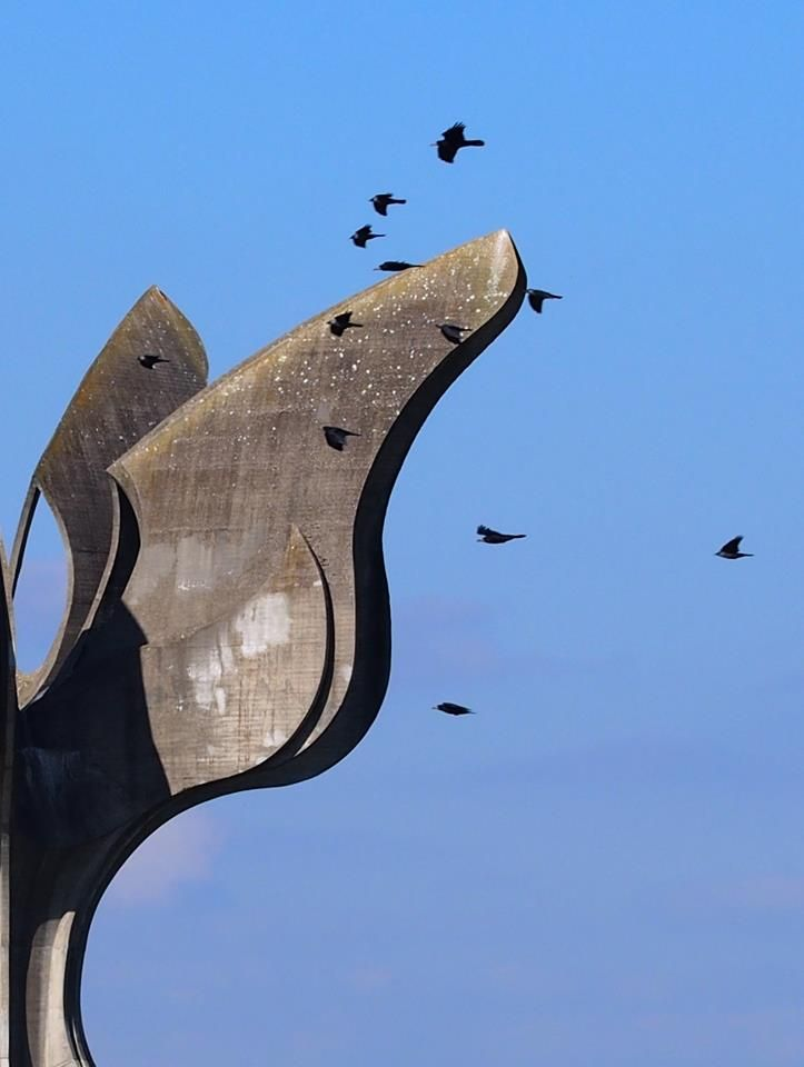 Jasenovac Memorial Site/Stone Flower, a monument to the victims of Jasenovac, Croatia, opened in 1966, architect: Bogdan Bogdanović
