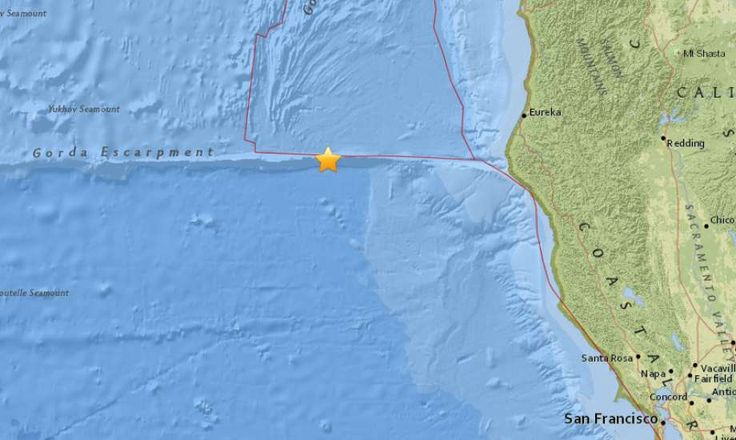 01/25/2018 - Two earthquakes above magnitude 5.0 strike off Calif. coast