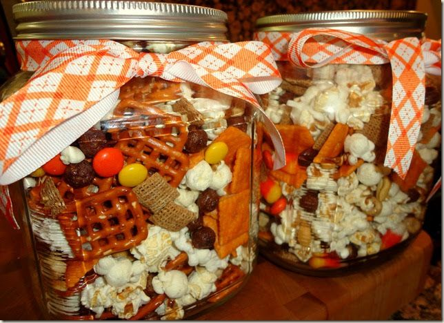 We made this festive snack mix as a Thanksgiving gift for the girls' CBS teachers.        Prior to this, the girls had never seen, much l...