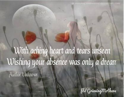 wishing your absence was only a dream