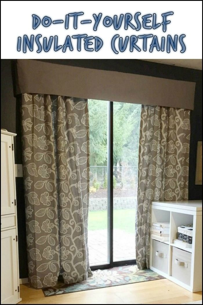 Want to lessen your energy consumption? Turn your regular curtains into insulated curtains!