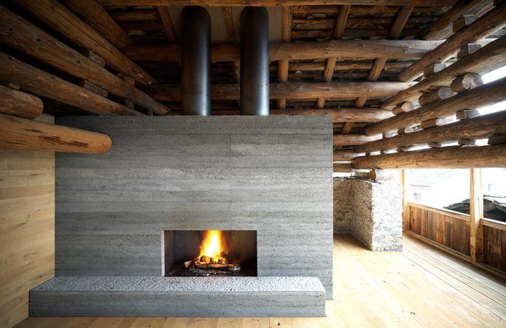 armando ruinelli: Modern Fireplaces, Associati Architetti, Ruinelli Associati, Barns Houses, Children'S Renovation, Architecture, Barns Conver, Modern Houses Design, Old Barns