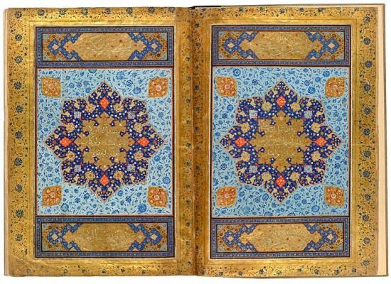The Jerrāḥ Pasha Qur˒an  Qur˒an, in Arabic. Persia, Shiraz ca. 1580 On paper 483 x 340 mm  Purchased by Pierpont Morgan, before 1913 MS M.532 (I), fols. 1v–2r