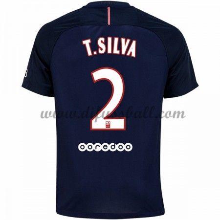 Neues Paris Saint Germain Psg 2016-17 Fussball Trikot T. Silva 2 Kurzarm Heimtrikot Shop