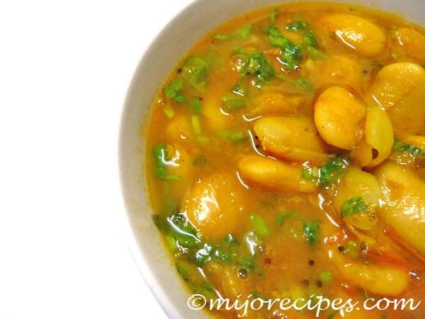 Lima Beans Indian Curry