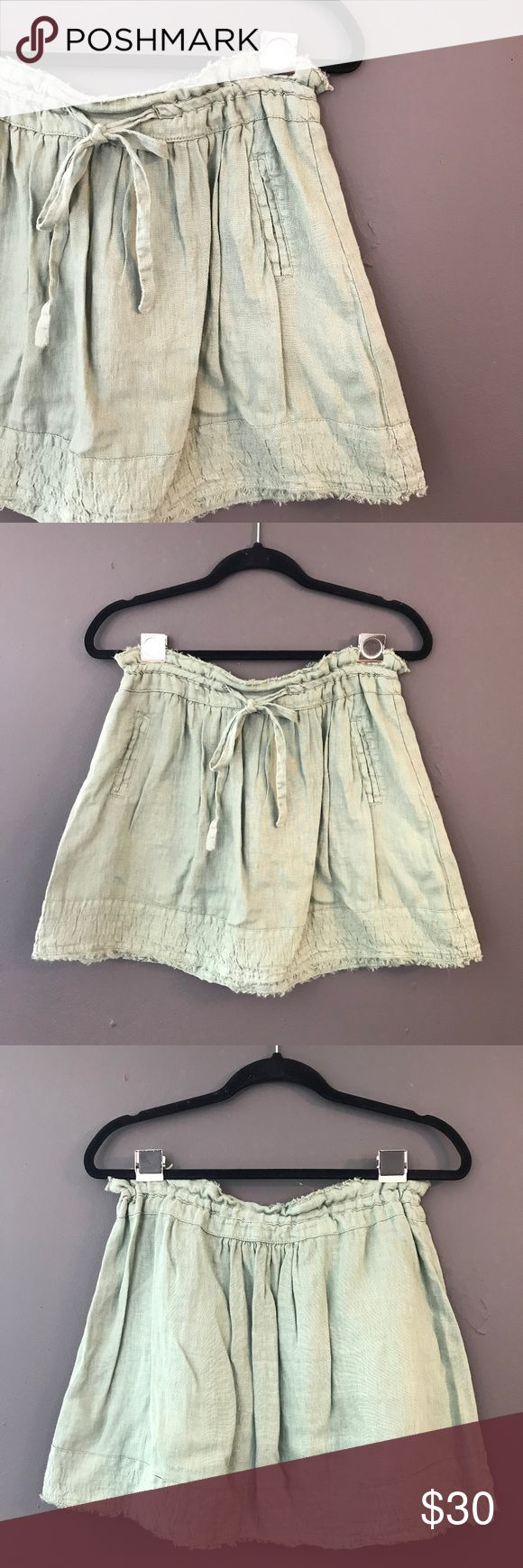 Zara Basic linen mini skirt good condition , no rips , stains , or pilling ,  please see pictures for fabric , care, measurements, no trading Zara Skirts Mini