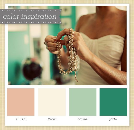 Pink, Ivory and Green Color Palette 43 by Sarah Hearts
