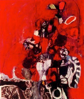 """Antoni Clavé Sanmartí (1813 - 2005). """"Évocation, 1967"""". Gouache. 68 x 50 cm. Colección Okuhiro Sakai. Tokio. Japón."""