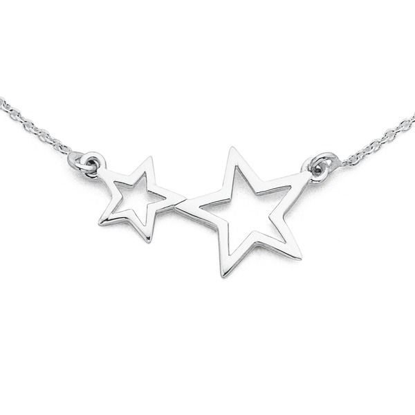 Sweep her away with this Sterling Silver Star Necklet!