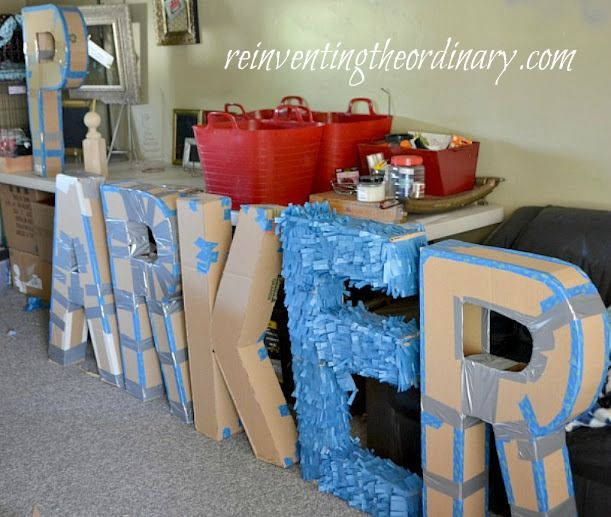 How to Make 3D Letters Parties Pinterest