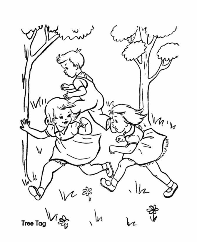 Дети играют в салки картинки для детей