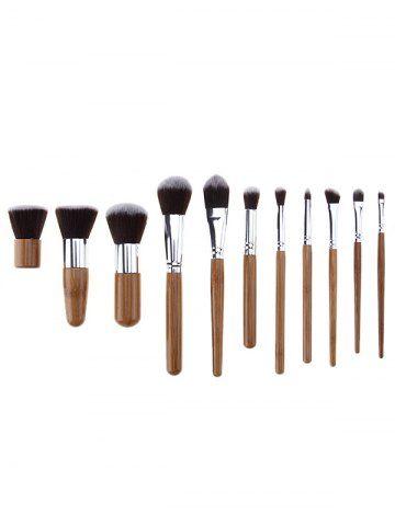 SILVER 11 Pcs Makeup Brushes Set + Brush Egg + Makeup Sponge