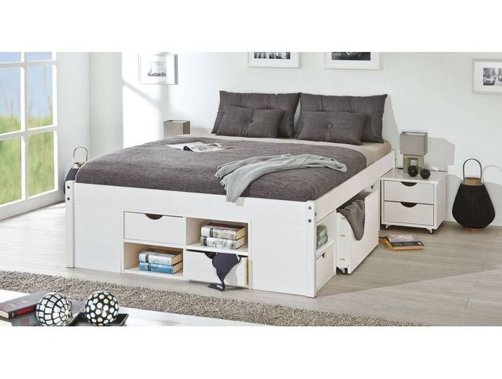 Funktionsbett 140x200 Cm Kiefer Weiss Bett Mit Bettkasten Goteborg 140x200 Bett Bettkasten Funktionsbett Goteborg K In 2020 Bed With Drawers Bed Bed Storage