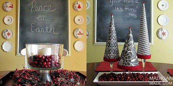 Easy Cranberry Centerpiece Idea ~ Madigan Made { simple DIY ideas }