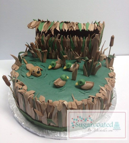Duck Blind Cakes http://www.sugarcoatedbymichelle.com/decorated-cakes-theme-cakes-thibodaux-baton-rouge-new-orleans-kenner-houma-hammond-la.html