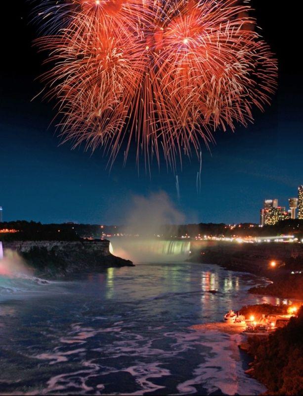 Spectacular Niagara Falls fireworks