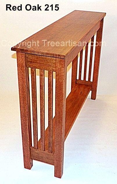 Custom Console Hall Sofa Table Quarter Sawn Oak Arts Crafts Mission 26 Colors #TheTreeArtisan #ArtsCraftsMissionStyle