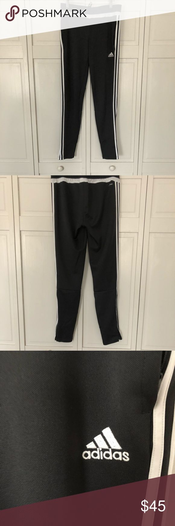 Grey Adidas Joggers- Men's M *BRAND NEW* Grey and White Adidas Joggers! Brand new, never worn! Men's medium! adidas Pants Track Pants & Joggers