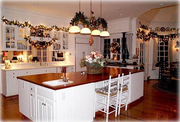iluminacion cocina en navidad