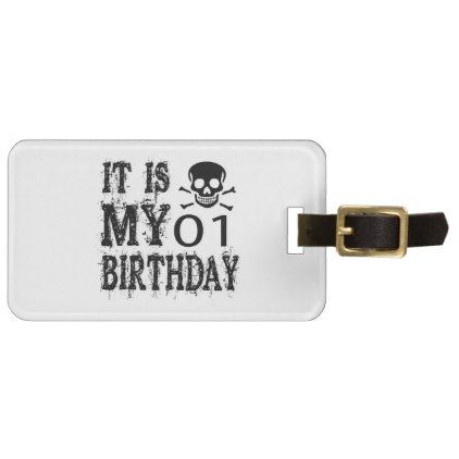 #It Is My 01 Birthday Designs Bag Tag - #giftidea #gift #present #idea #one #first #bday #birthday #1stbirthday #party #1st