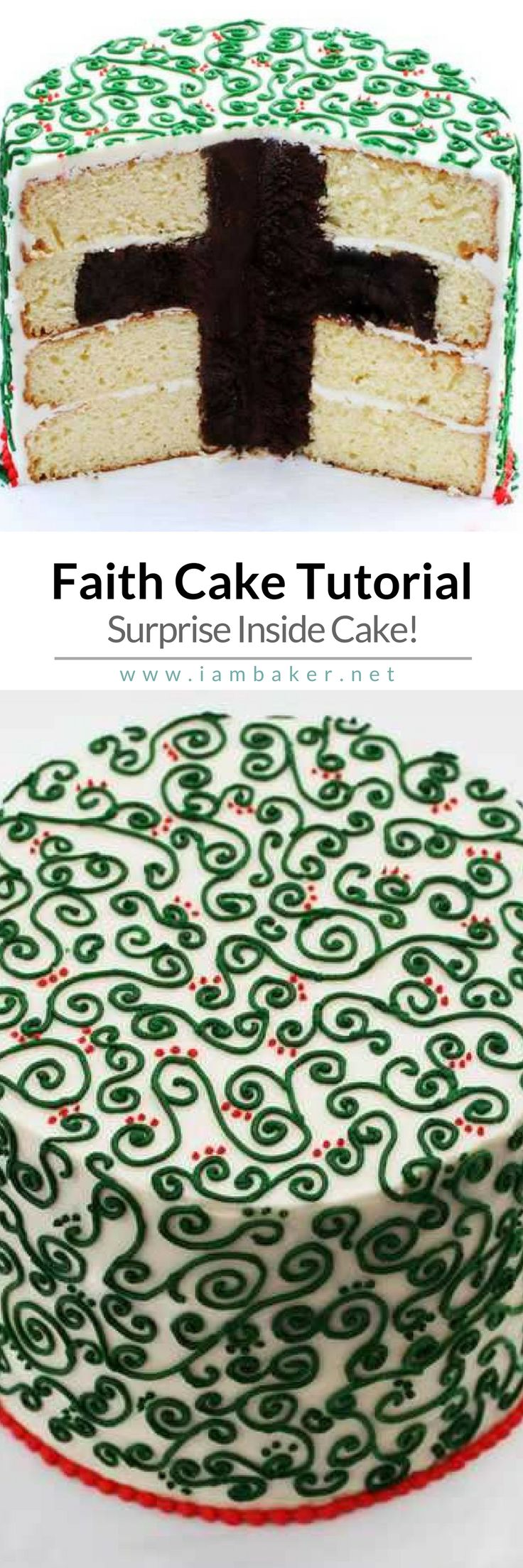 Here's one of the simple and easy dessert recipes from @iambaker- Faith Cake! Click to read the tutorial and create your own surprise inside cake! Visit #iambaker for more quick and easy dessert recipes to make. #cake