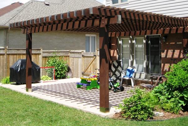 2 in 1 pergola and terrace roof pergolas pinterest. Black Bedroom Furniture Sets. Home Design Ideas