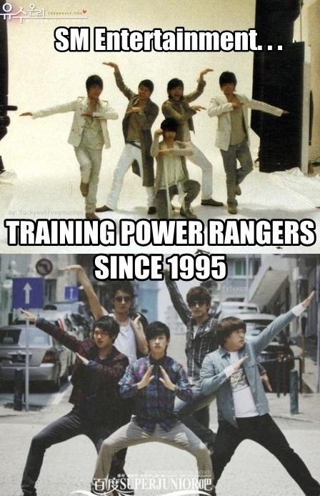 Super Junior as Power Rangers wanna be!^^