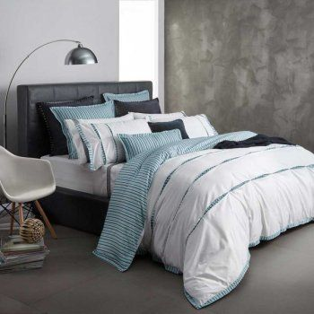 Tate Sage Super King Quilt Cover by Royal Doulton | Linen Lovers