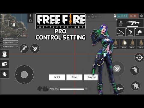 Free Fire control setting pro Player / Garena FreeFire tips in 2020 |  Episode free gems, Free gems, Video game news
