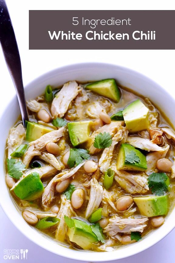 white chicken chili.