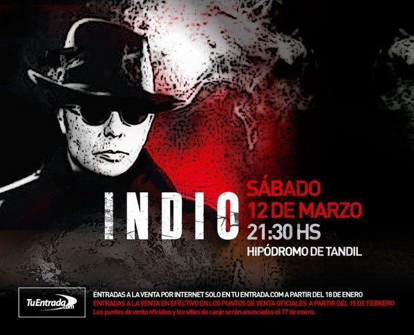 Es oficial: el Indio Solari tocará el 12 de marzo en Tandil