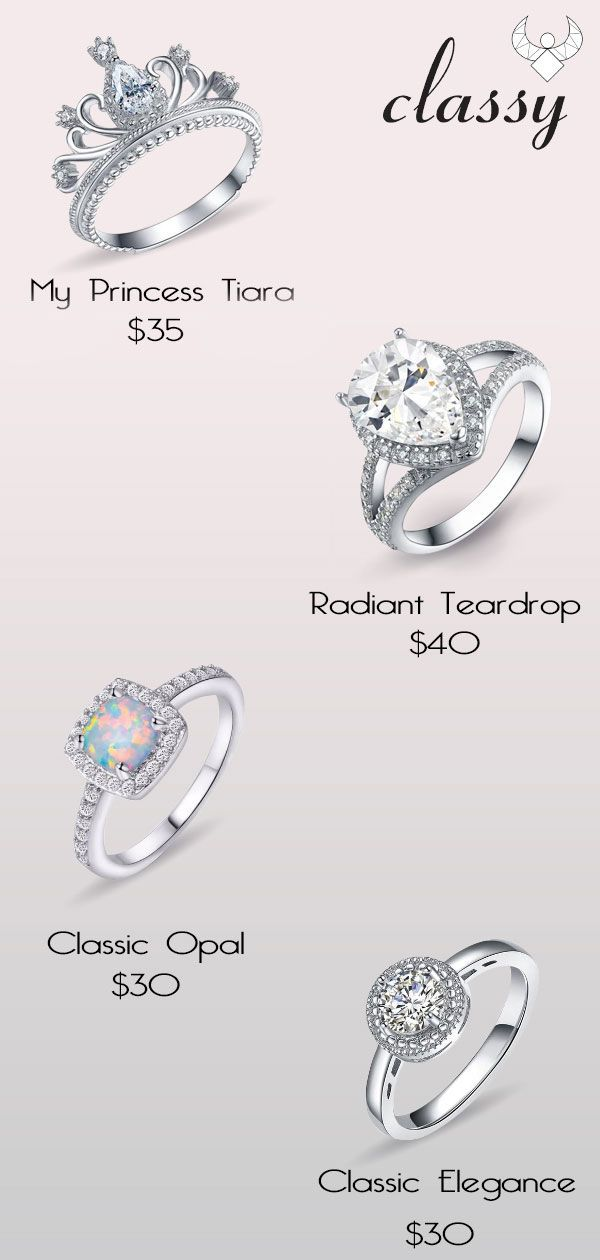 b866ea415f Are you looking for affordable promise rings? Here at classy we offers the  best inexpensive promise rings for her, we also offers opal promise rings  ...