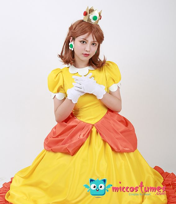 Super Mario BROS Princess Daisy Cosplay Costume