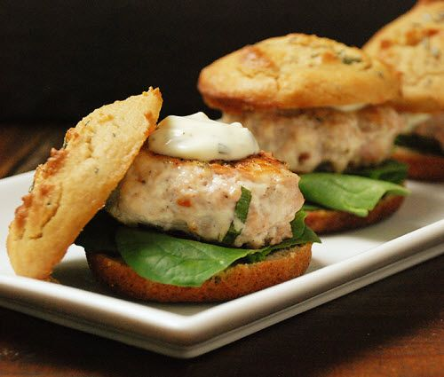 YUM} Sundried Tomato Herb Chicken Sliders with Paleo Herb Bun with a ...