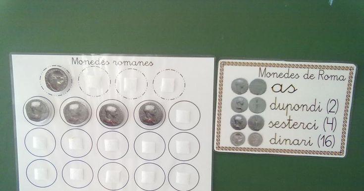 Esta mañana hemos aprendido el nombre y el valor de algunas monedas romanas. Al igual que nosotros tenemos la moneda del euro para poder com...
