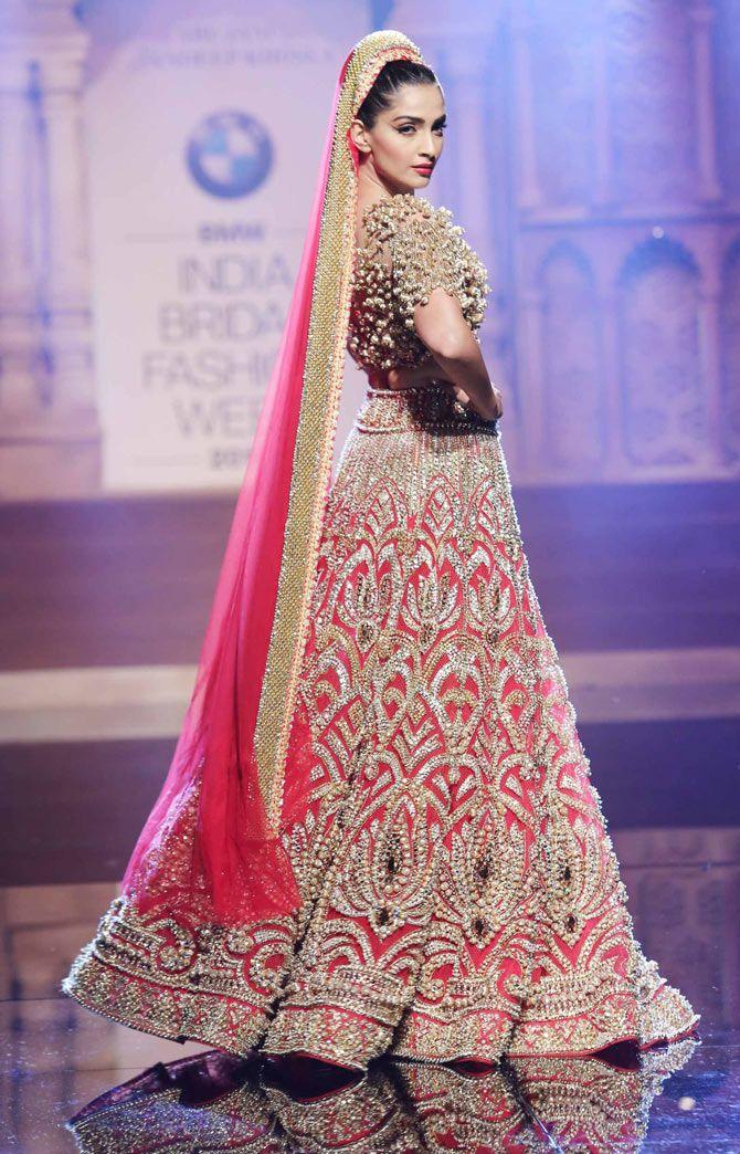 Sonam Kapoor at the India Bridal Fashion Week.