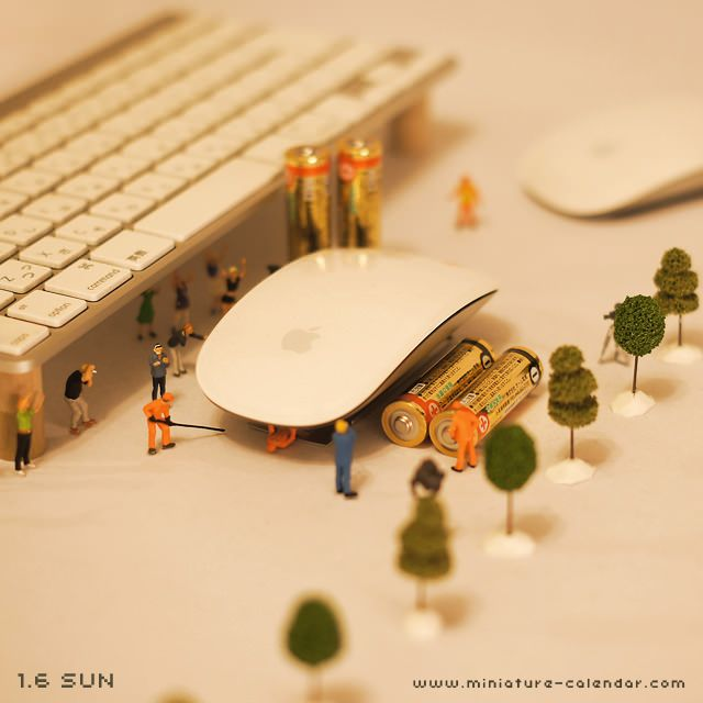 Pit stop. miniature photography - incredibly enchanting and surreal worlds made of little people - It's a small world afterall! Creative macro lens photography