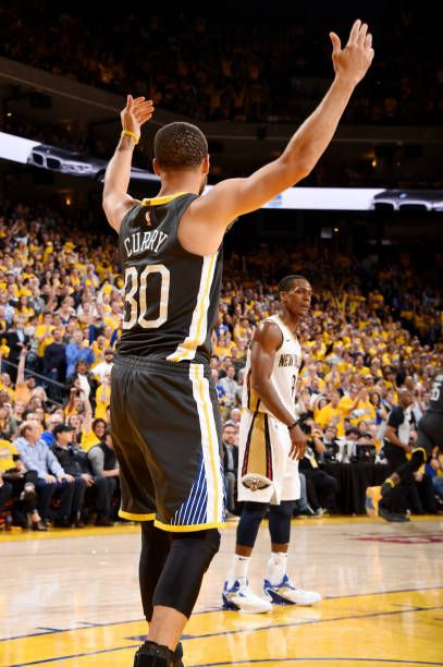 11a5ccbba302 Stephen Curry of the Golden State Warriors reacts against the New Orleans  Pelicans in Game Two of Round Two of the 2018 NBA Playoffs on May 1 2018 at.