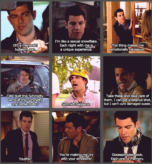 "Schmidt from ""New Girl"" youths is my favorite hehe :)"