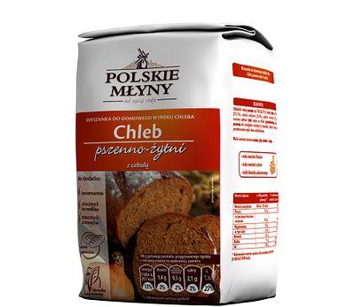 Chleb domowy z cebulą. Gotowa mieszanka, która pozwoli nam stworzyć pyszny domowy chleb.  Zawarta w niej cebula nada wypiekowi wyjątkowych walorów smakowych oraz niepowtarzalny aromat. Jedno opakowanie wystarczy  do przygotowania aż 2 bochenków chleba, które zachwycą smakiem oraz chrupkością